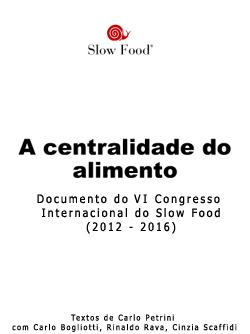 a centralidade do alimento