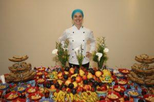 Amanda Marfil promovendo um lanche agroecológico. Foto: Marfil Agroecológicos