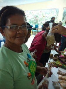Dona Leia, da comunidade Buritizal dos Reis, município de Morros, no Maranhão. Foto: Arquivo Tijupá